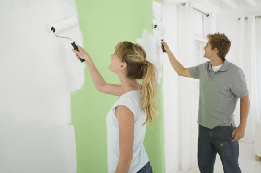 Хитрости при обычной окраске стен